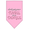 Mirage Pet Products Tinsel in a Tangle Rhinestone Bandana Light Pink Large