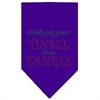 Mirage Pet Products Tinsel in a Tangle Rhinestone Bandana Purple Large