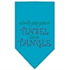 Mirage Pet Products Tinsel in a Tangle Rhinestone Bandana Turquoise Large