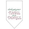 Mirage Pet Products Tinsel in a Tangle Rhinestone Bandana White Small