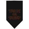Mirage Pet Products Trick or Treat Rhinestone Bandana Black Large