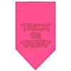 Mirage Pet Products Trick or Treat Rhinestone Bandana Bright Pink Large