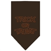 Mirage Pet Products Trick or Treat Rhinestone Bandana Cocoa Large