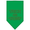 Mirage Pet Products Trick or Treat Rhinestone Bandana Emerald Green Small