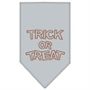 Mirage Pet Products Trick or Treat Rhinestone Bandana Grey Large