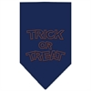 Mirage Pet Products Trick or Treat Rhinestone Bandana Navy Blue large