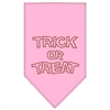 Mirage Pet Products Trick or Treat Rhinestone Bandana Light Pink Large