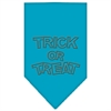 Mirage Pet Products Trick or Treat Rhinestone Bandana Turquoise Large