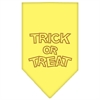 Mirage Pet Products Trick or Treat Rhinestone Bandana Yellow Large
