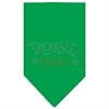 Mirage Pet Products Trouble Maker Rhinestone Bandana Emerald Green Small