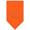 Mirage Pet Products Trouble Maker Rhinestone Bandana Orange Large