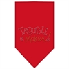 Mirage Pet Products Trouble Maker Rhinestone Bandana Red Small
