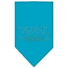 Mirage Pet Products Trouble Maker Rhinestone Bandana Turquoise Large