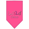 Mirage Pet Products Wild Child Rhinestone Bandana Bright Pink Large