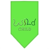 Mirage Pet Products Wild Child Rhinestone Bandana Lime Green Large