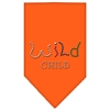 Mirage Pet Products Wild Child Rhinestone Bandana Orange Large