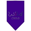 Mirage Pet Products Wild Child Rhinestone Bandana Purple Large