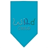Mirage Pet Products Wild Child Rhinestone Bandana Turquoise Small