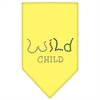Mirage Pet Products Wild Child Rhinestone Bandana Yellow Small