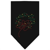Mirage Pet Products Wreath Rhinestone Bandana Black Large