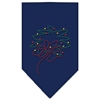 Mirage Pet Products Wreath Rhinestone Bandana Navy Blue Small