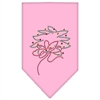 Mirage Pet Products Wreath Rhinestone Bandana Light Pink Large