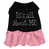 Mirage Pet Products Rhinestone All About me Dress Black with Pink XL (16)