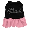 Mirage Pet Products Rhinestone Angel Dress   Black with Pink Lg (14)
