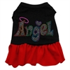 Mirage Pet Products Technicolor Angel Rhinestone Pet Dress Black with Red XXL (18)