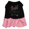Mirage Pet Products Bah Humbug Rhinestone Dress Black with Pink Lg (14)