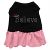 Mirage Pet Products Believe Rhinestone Dress Black with Pink XXL (18)