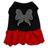 Mirage Pet Products Rhinestone Bow Dresses Black with Red XXL (18)