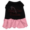Mirage Pet Products Candy Cane Princess Rhinestone Dress Black with Pink Med (12)