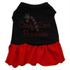 Mirage Pet Products Candy Cane Princess Rhinestone Dress Black with Red XL (16)