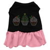 Mirage Pet Products Christmas Cupcakes Rhinestone Dress Black with Pink XXL (18)