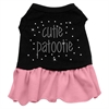 Mirage Pet Products Rhinestone Cutie Patootie Dress Black with Pink XS (8)