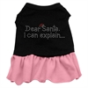 Mirage Pet Products Dear Santa Rhinestone Dress Black with Pink XXL (18)