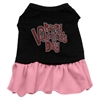 Mirage Pet Products Happy Valentines Day Rhinestone Dress Black with Pink XXL (18)