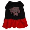 Mirage Pet Products Happy Valentines Day Rhinestone Dress Black with Red Med (12)
