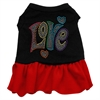 Mirage Pet Products Technicolor Love Rhinestone Pet Dress Black with Red XS (8)