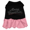 Mirage Pet Products Merry Christmas Rhinestone Dress Black with Pink XS (8)