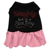 Mirage Pet Products Rhinestone Naughty but in a nice way Dress Black with Pink Lg (14)