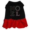 Mirage Pet Products Noel Rhinestone Dress Black with Red Med (12)