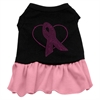 Mirage Pet Products Pink Ribbon Rhinestone Dress Black with Pink Lg (14)
