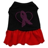 Mirage Pet Products Pink Ribbon Rhinestone Dress Black with Red Med (12)