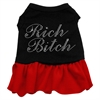 Mirage Pet Products Rhinestone Rich Bitch Dress  Black with Red XXL (18)