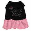 Mirage Pet Products Santa Baby Rhinestone Dress Black with Pink Lg (14)