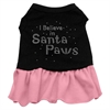 Mirage Pet Products Santa Paws Rhinestone Dress Black with Pink XS (8)