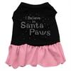 Mirage Pet Products Santa Paws Rhinestone Dress Black with Pink Sm (10)