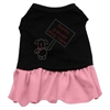 Mirage Pet Products Santa Stop Here Rhinestone Dress Black with Pink XL (16)